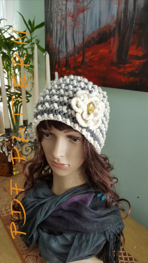 Crochet Pattern Crochet Hat Pattern Woman Crochet Hat With Etsy