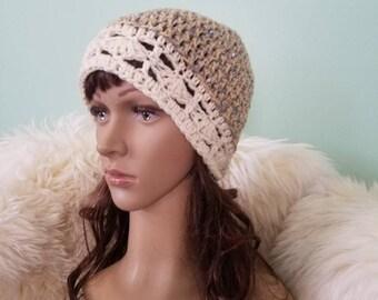 Winter Hat Crochet Hat Woman Crochet Beany Winter Lace Hat
