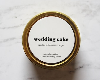 Wedding Cake Candle - Bakery Scented Candle - Small Bridesmaid Proposal Gift