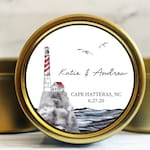 Lighthouse Wedding Favor Candle - Beach Wedding Favors - Coastal Wedding Favors - Nautical Wedding Favors - Beach Theme Favors