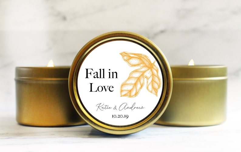 Fall Wedding Favors  Rustic Wedding Favors  Fall in Love image 0