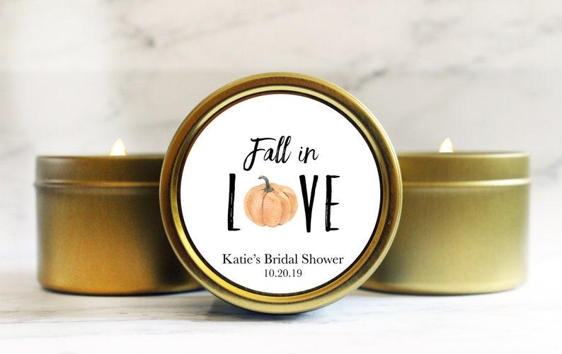 Rustic Bridal Shower Favors  Fall in Love Bridal Shower Favor image 0
