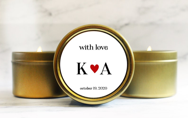 Wedding Favors for Guests  Winter Wedding Favors  Candle image 0
