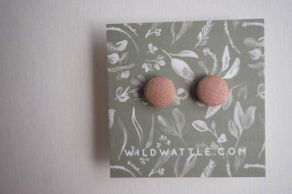 Linen X Wattle Studs in Blush
