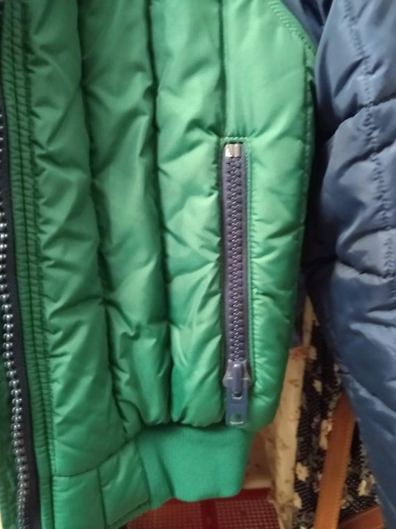 Blue and Green 80s Ski Jacket S/M - image 7