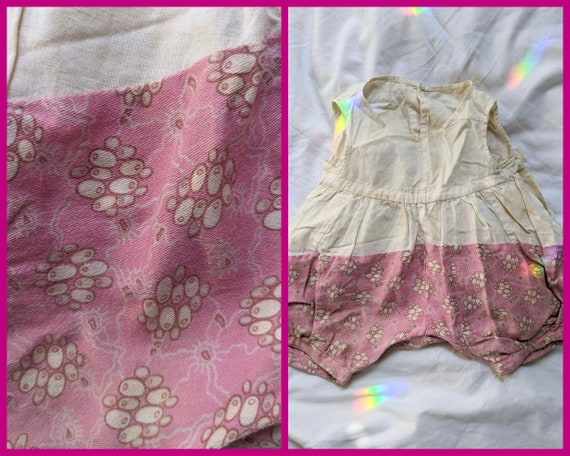 Calico Baby Romper from 1920s/30s