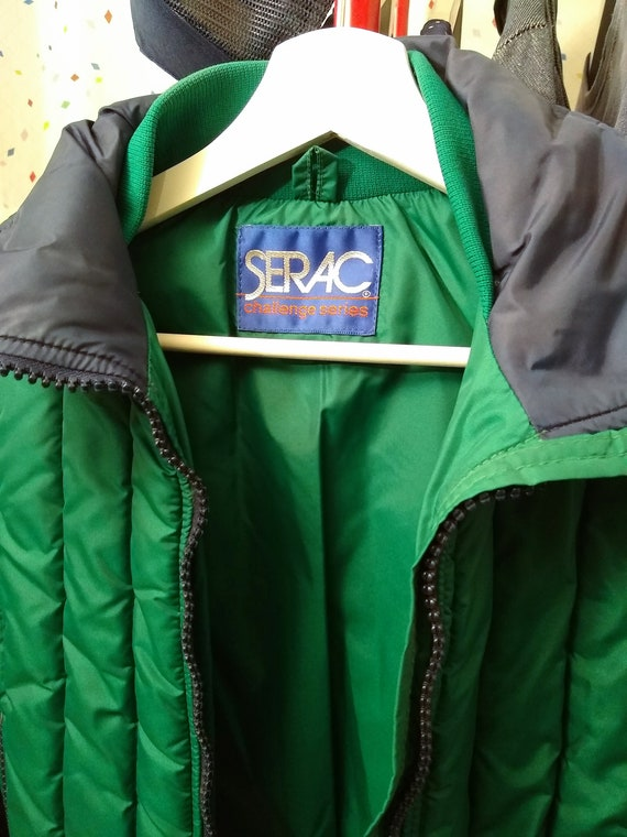 Blue and Green 80s Ski Jacket S/M - image 3