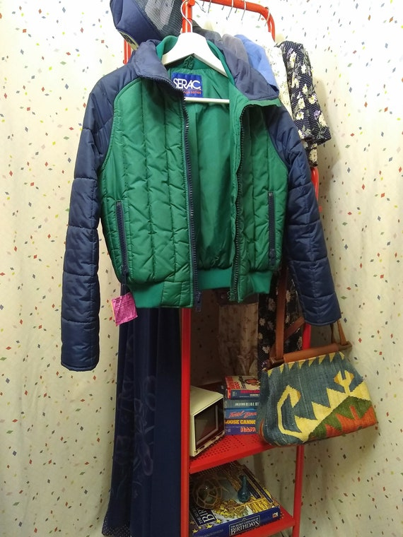 Blue and Green 80s Ski Jacket S/M - image 6