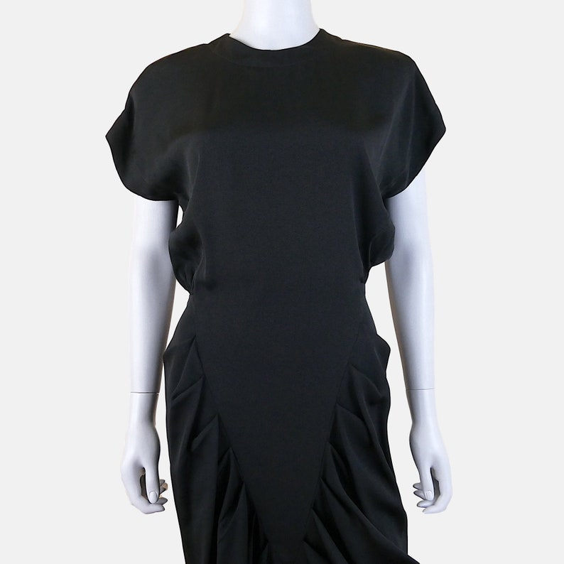 Extra Small  Small Vintage 1980s Does 1940s Nicole Miller Dress FREE SHIPPING