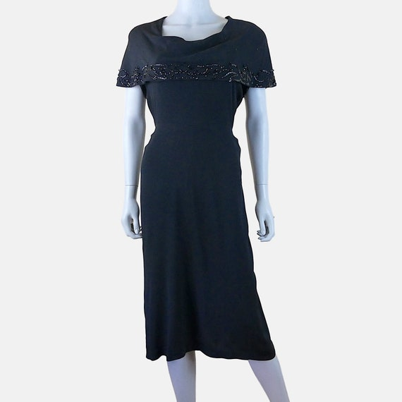 FREE SHIPPING! Vintage 1940s Sequin Capelet Dress