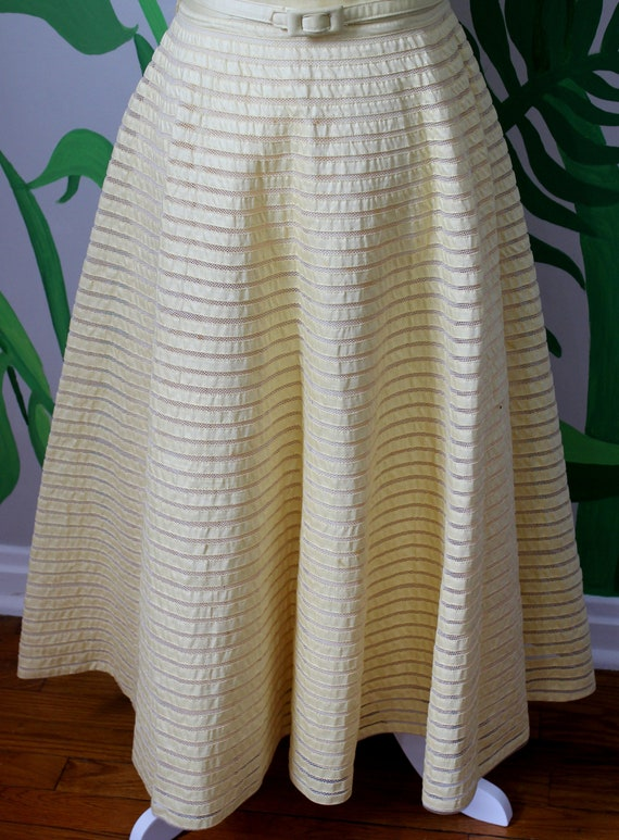 Daisy Dress // Vintage 1950's Buttery Yellow Cott… - image 5