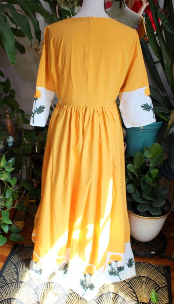 Marigold Dress // Retro 1960's Style Marigold Yel… - image 9