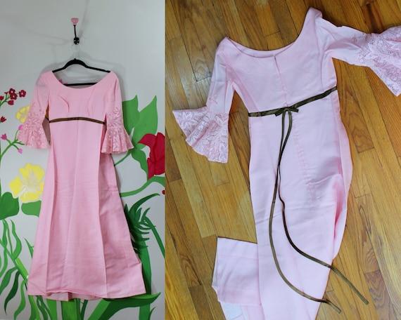 Sugar \'n\' Spice Dress // Vintage 1960\'s Pink Maxi | Etsy