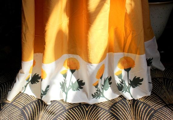 Marigold Dress // Retro 1960's Style Marigold Yel… - image 6