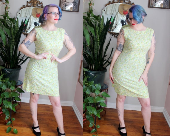 Strawberry Fields Dress // Vintage 1960's Pale Yel