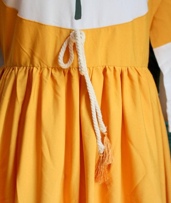Marigold Dress // Retro 1960's Style Marigold Yel… - image 7