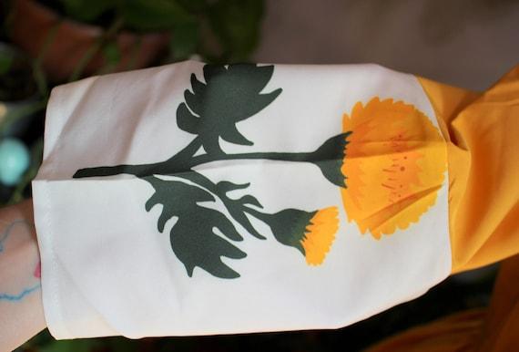Marigold Dress // Retro 1960's Style Marigold Yel… - image 8