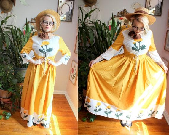 Marigold Dress // Retro 1960's Style Marigold Yel… - image 1