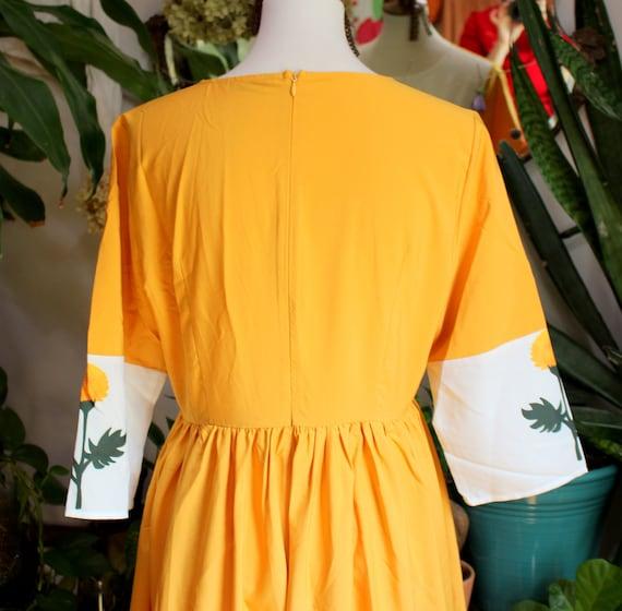 Marigold Dress // Retro 1960's Style Marigold Yel… - image 10