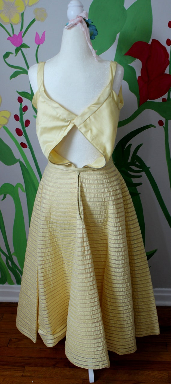 Daisy Dress // Vintage 1950's Buttery Yellow Cott… - image 8