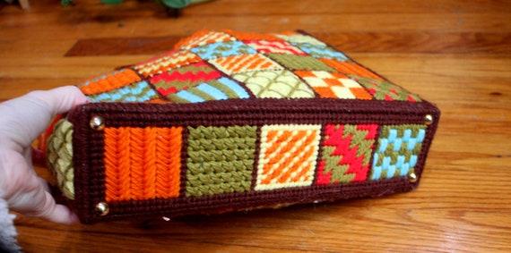 Mary Purse // Vintage 1970's Colorful Granny Squa… - image 9