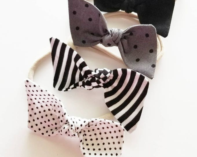Featured listing image: Baby bows headband set {Maven} nylon headbands
