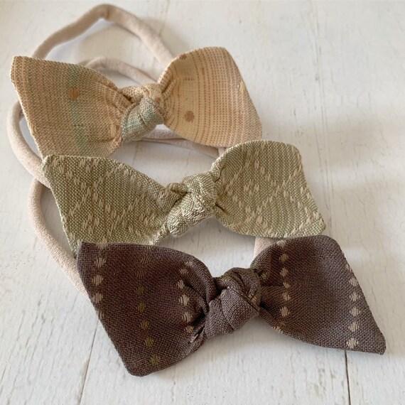 Baby headbands set, nylon headbands, newborn headbands- hair bows, hair clips {Birch}