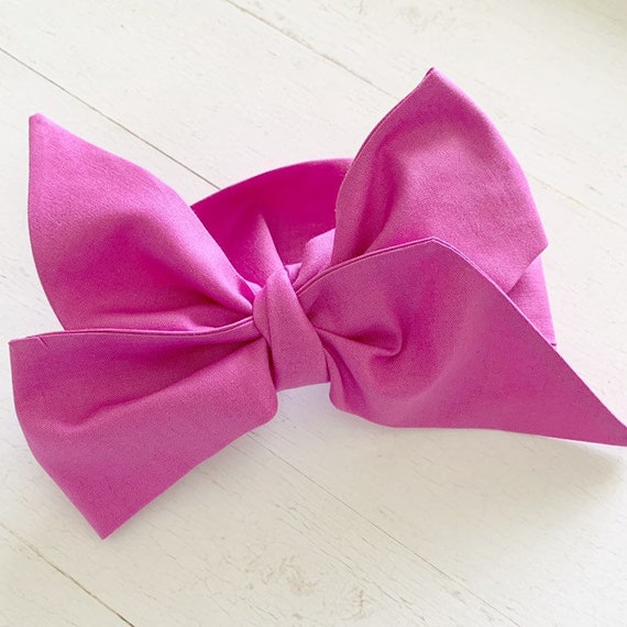 Headwrap bow {Boysenberry} toddler bows - newborn bows - baby girl hair bows - baby accessories