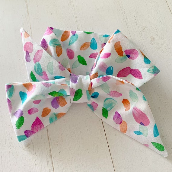 Headwrap hair bow {Petals} baby girl clothes, newborn headbands