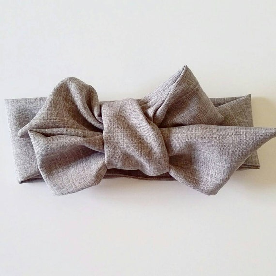 Headwrap bow, big hair bows- fabric hair bows- mommy and me bows {Graystone}