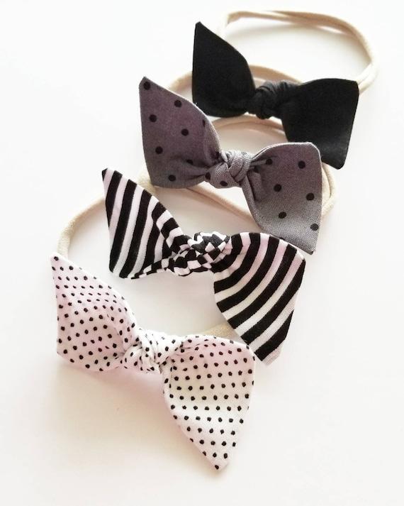 Baby bows headband set {Maven} nylon headbands