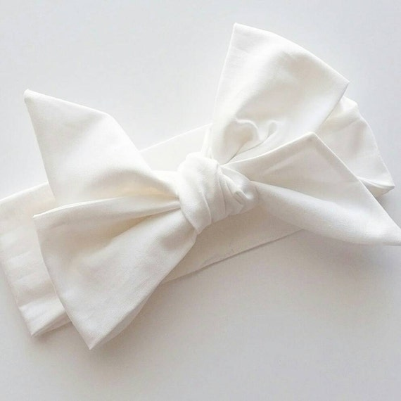 Head wrap {Snow} baby bows, head wraps, women's head wrap