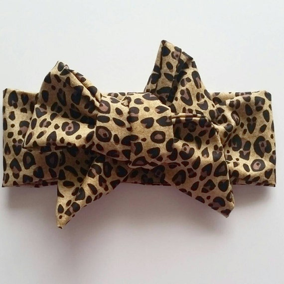 Head wrap {Cheetah} baby head wrap, hair accessories, hair bows, headbands