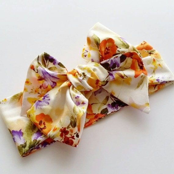 Headwrap, baby headbands, big bows, headwraps {Sunrise}