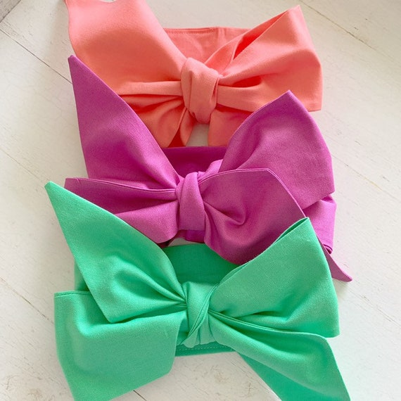 Headwrap bow set {Maye} toddler hair bows - newborn headbands - one fits all bows