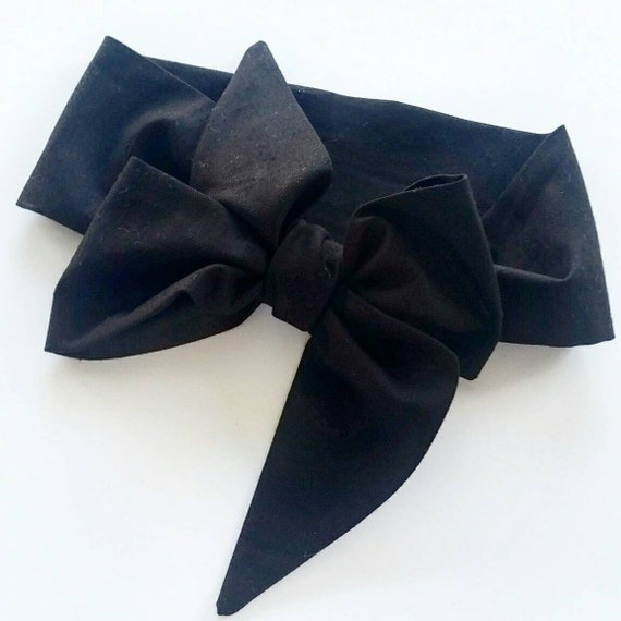 Head wrap {Midnight Black} baby head wraps, bows, one size fits all bows