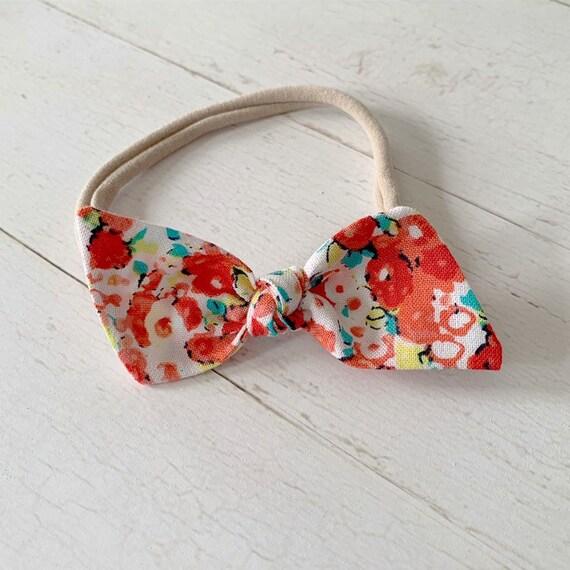 Baby nylon headband {Spring} bitsy knot bow