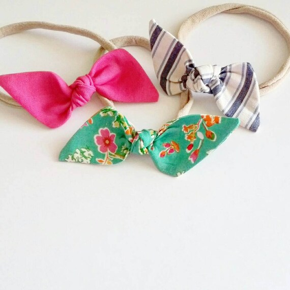 Baby nylon headbands {Samantha} infant bows