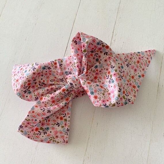 Headwrap bow {Sadie} hair bows, baby gifts, turbans, head scarf