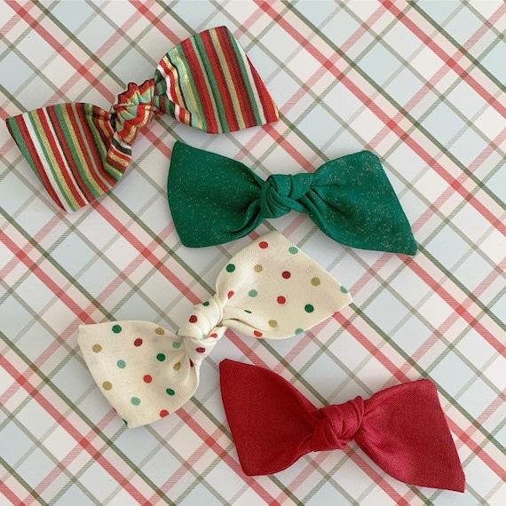 Baby headbands, Newborn headbands - baby hair bows - hair clips - Christmas hair bows - holiday hair bows {Holiday}