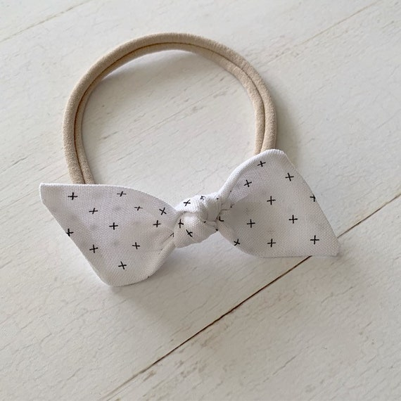 Baby headband bow {Sloane} baby girl hair bows, newborn headbands, nylon headbands