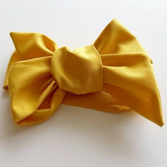 Headwrap  { Honey } baby bows, hair accessories, headbands, turbans