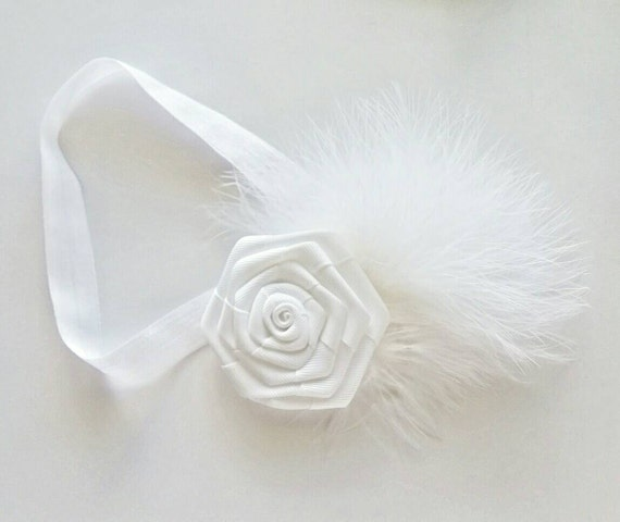 Baby headbands {Snowflake} infant bows, hair clips