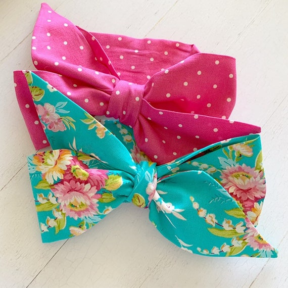 Baby girl headwrap bow set {Layla} newborn baby bows - toddler bows baby girl clothing