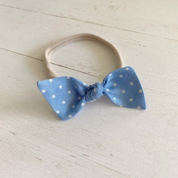 Bitsy knot bow {Carly} baby nylon headbands, baby hair bows