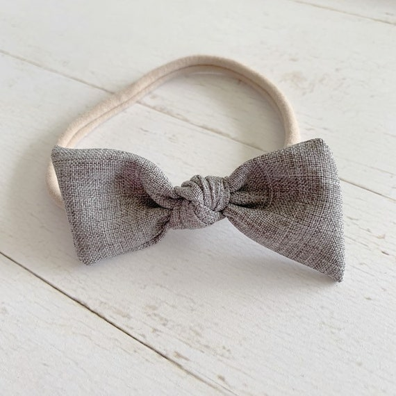 Baby bow headbands {Graystone} newborn baby headband, baby girl bows