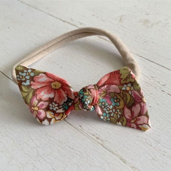Baby bow headband {Stacie} nylon headbands, newborn headbands