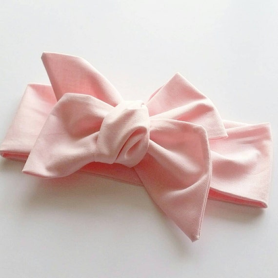 Baby girl headwrap { Cotton Candy } pink headwrap, baby bows, pink bows
