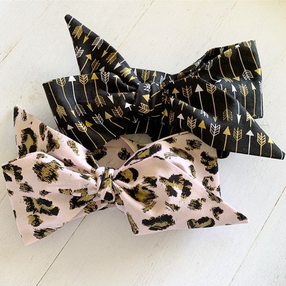 Headwrap hair bow set {Aria} newborn headbands - toddler headbands - baby girl clothes