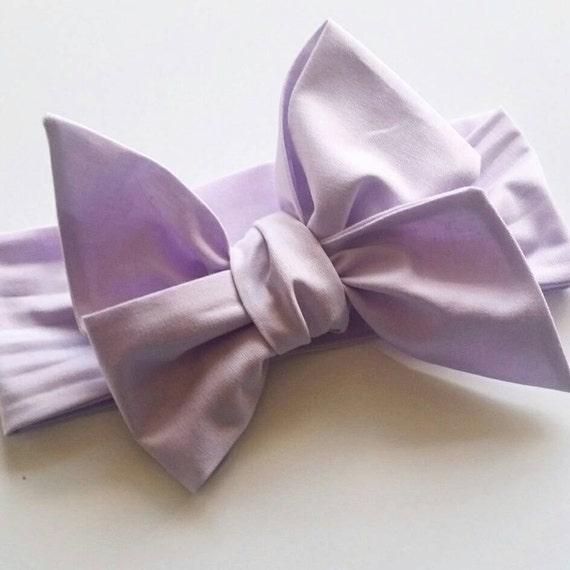 Head wrap {Lavender} baby bows, hair accessories, fabric bows